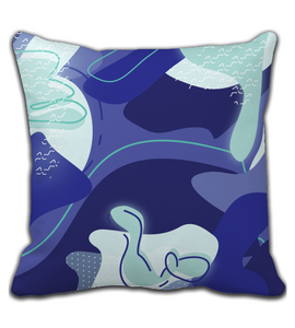 Throw Pillow Abstract pattern seamless colorful Bright
