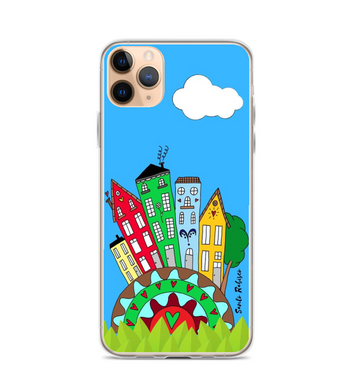 Happy day! Art made by hand and finished digitally. Phone Case