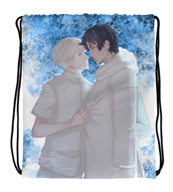 Drawstring Gym Bag Devilman crybaby Akira and Ryo