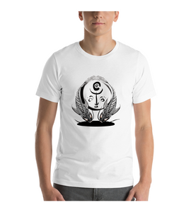 T-Shirt Two Fishes in sync with black white style like a tattoo