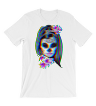 T-Shirt Mexican skull with flowers