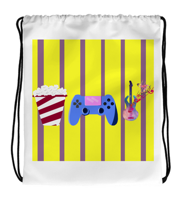 Drawstring Gym Bag CINE,GAMES,MUSIC