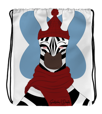 Drawstring Gym Bag zebra