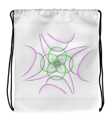 Drawstring Gym Bag Abstrat