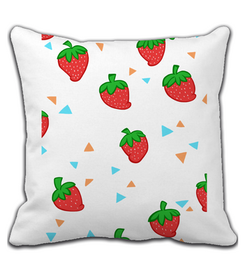 Throw Pillow fluffy strawberries