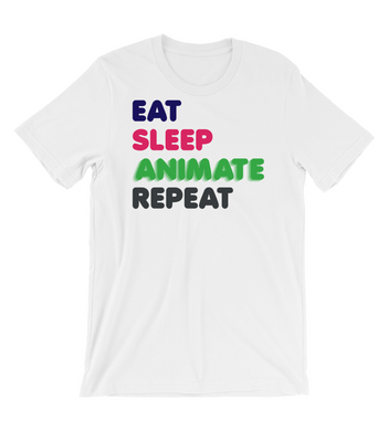 T-Shirt eat sleep animate repeat animator tshirt