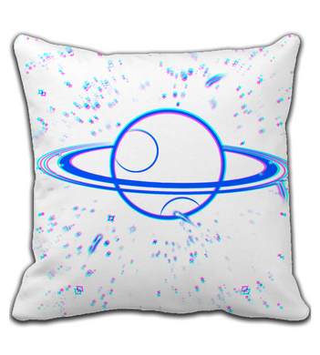 Throw Pillow Bright planet and stars