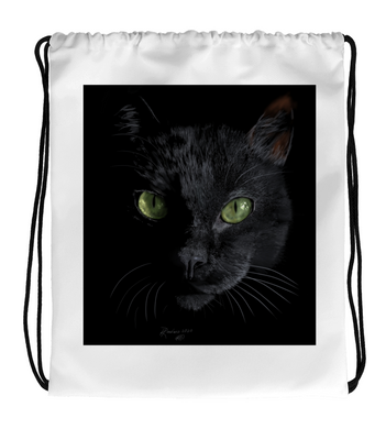 Drawstring Gym Bag BlackCat