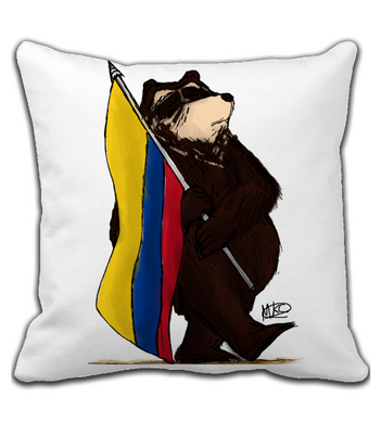Throw Pillow COLOMBIAN BEAR