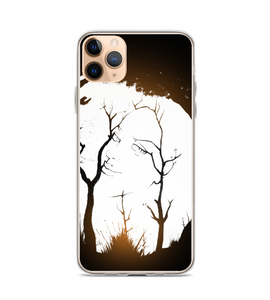 The hidden woman optical illusion wife figure forest trees dry twigs girlfriend mother in Phone Case