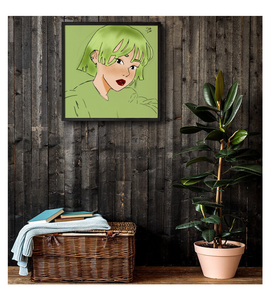 Framed Poster Aesthetic green