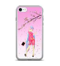 Sakura painter flowers petals pink girl japan japanese beautiful kimono artist Phone Case