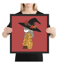 Framed Poster Witch Girl Geek Wizard