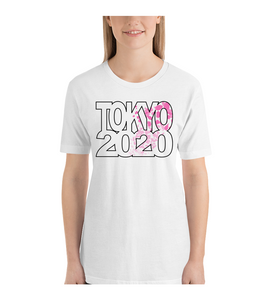 T-Shirt Olympics 2020 Tokyo sports competition Japan japanese summer games cherry blossom tshirt