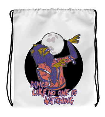 Drawstring Gym Bag Werewolf Dance