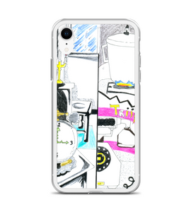 manga pg comic pop art page cover illustration drawing draw color colored cook phone pan Phone Case
