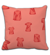 Throw Pillow T-shirt in deep red color