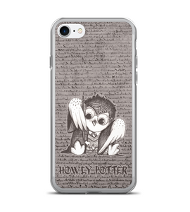 Howly Potter - magic OWL with wand casting lightning spell Phone Case