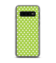 Green Polka Dot Print Pattern Phone Case