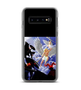 Battle sky angel demon war earth winner angels demons defeat universe Phone Case