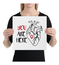 Canvas YOU ARE HERE | HEART MAP