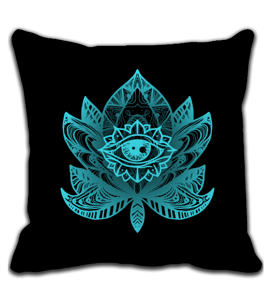 Throw Pillow AWAKE | LOTUS EYE TATTOO ARTWORK