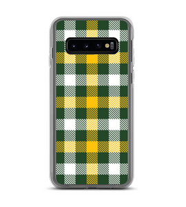 Green Yellow Plaid Print Phone Case