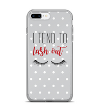 I Tend to Lash Out Print Phone Case
