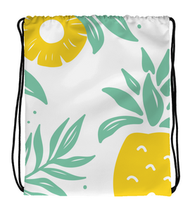 Drawstring Gym Bag Drawstring Bag Pineapple Tropical fruit