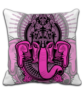 Throw Pillow Purple-Mith-Ganesha