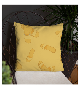 Throw Pillow Yellow slipper clasped tile