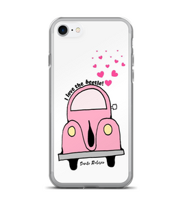 I love the beetle. Art made by hand and finished digitally. Phone Case