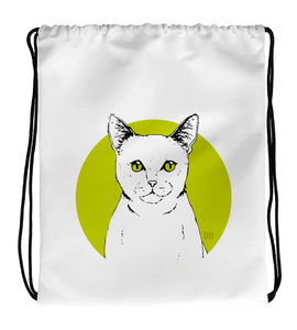 Drawstring Gym Bag Kitten