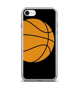 Basketball in the black Phone Case