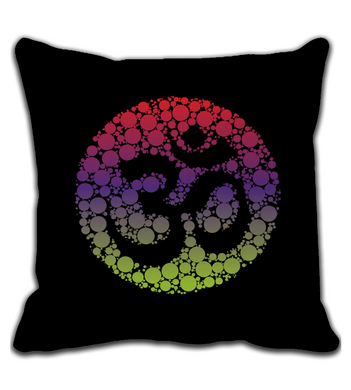 Throw Pillow SACRED OM MANTRA | COLORFUL ARTWORK