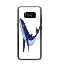 Glass_Blue_Whale Phone Case