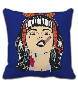 Throw Pillow Bad Girl
