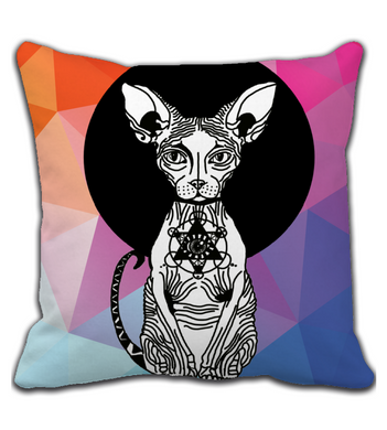 Throw Pillow Wrinkled Cat