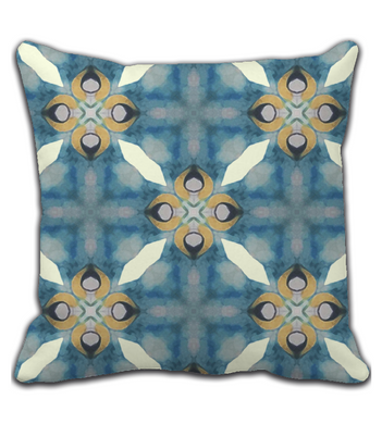 Throw Pillow Soft blues lovely geometric abstract pattern decor art