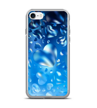 Blue Heart Water Vector Phone Case
