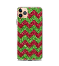 Christmas Holiday Chevron Print Phone Case
