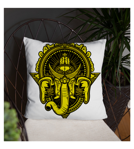 Throw Pillow Yellow-Ganesh-Culture