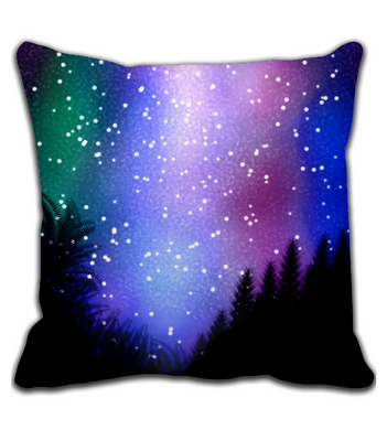 Throw Pillow Night