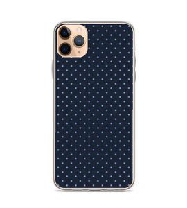 Blue Polka Dot Print Pattern Phone Case