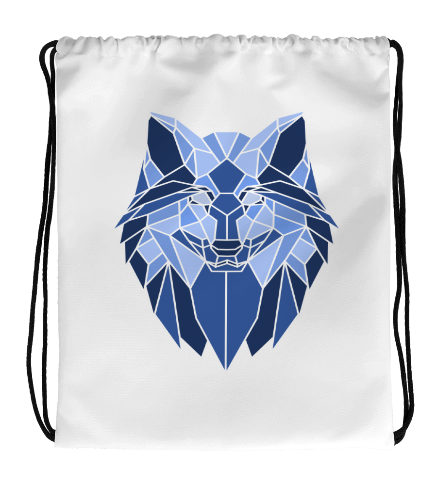 Drawstring Gym Bag Snow_glass_wolf