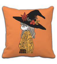 Throw Pillow Witch Girl