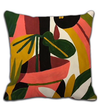Throw Pillow Abstract Garden