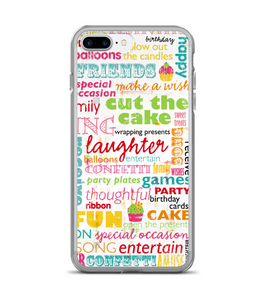 Birthday Color Verbiage Print Phone Case