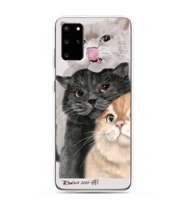 3 cats Phone Case
