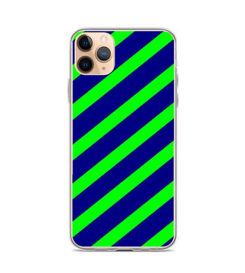Blue Green Diagonal Stripe Pattern Phone Case